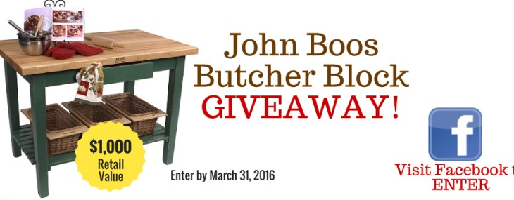 Butcher Block Co. To Promote John Boos Brand in March Giveaway Sweepstakes