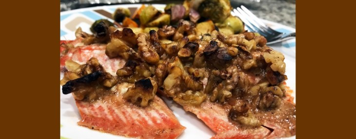 Easy, Maple Walnut Crusted Salmon