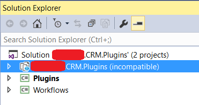 HowTo: open plugin/custom workflow activity project created