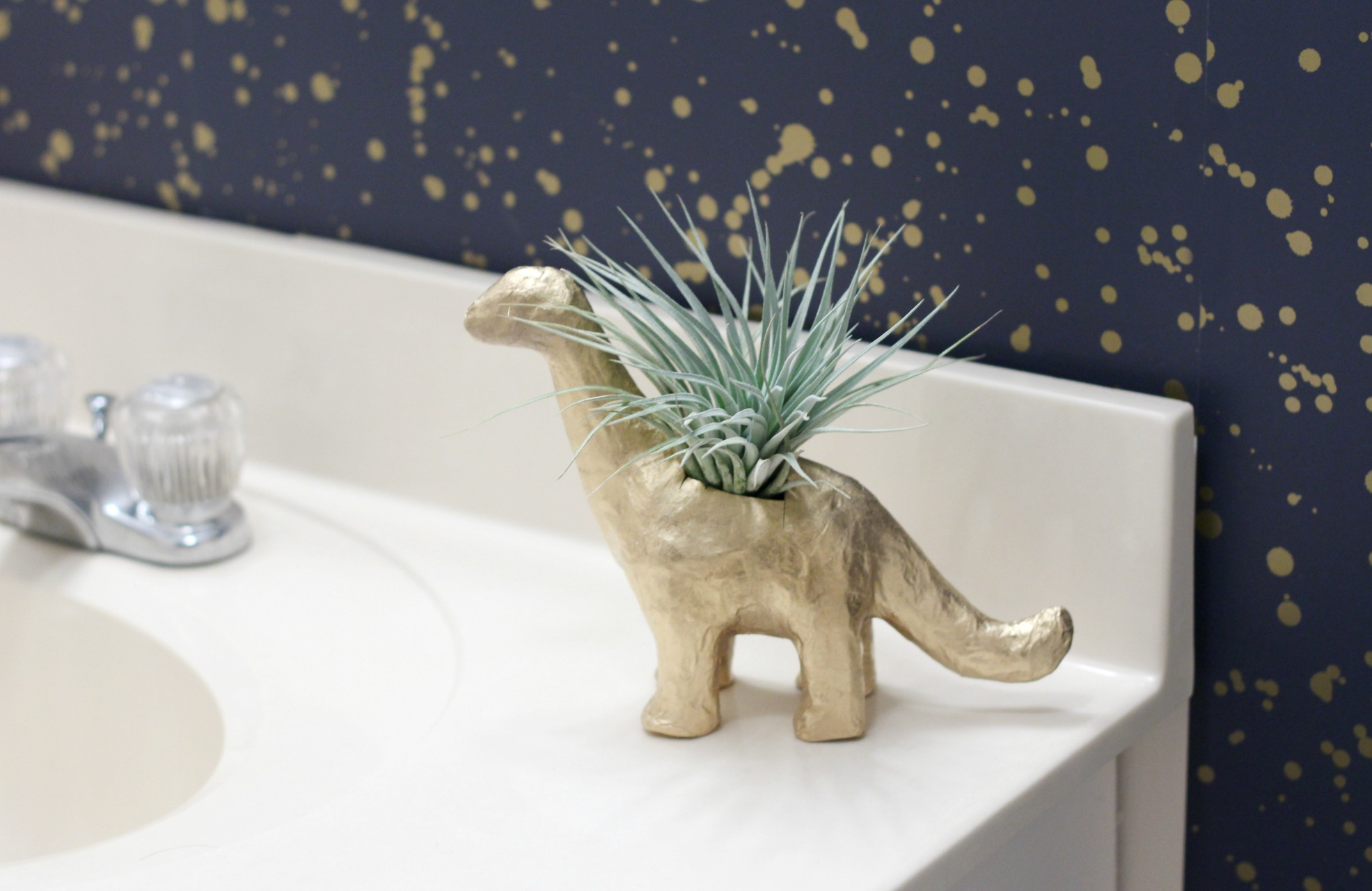 DIY Dinosaur Planter | How to Make an Animal Planter