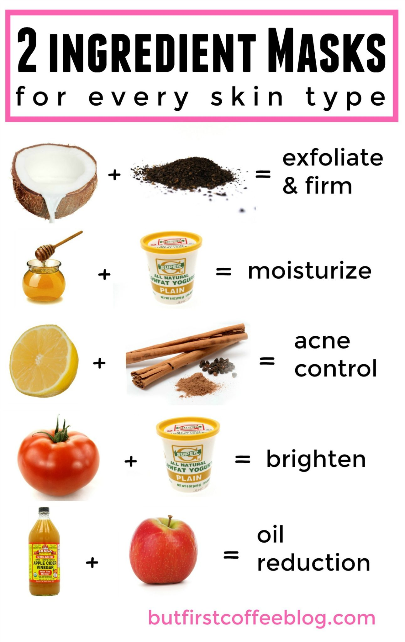 2 Ingredient D I Y Face Masks For Every Skin Type