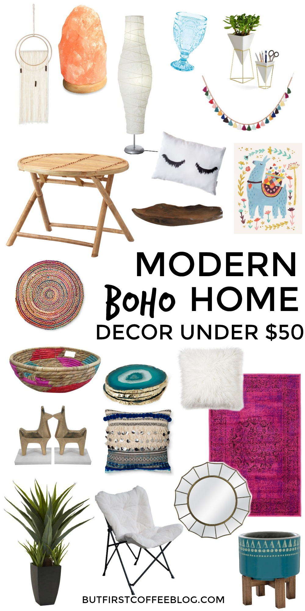 modern boho home decor under $50