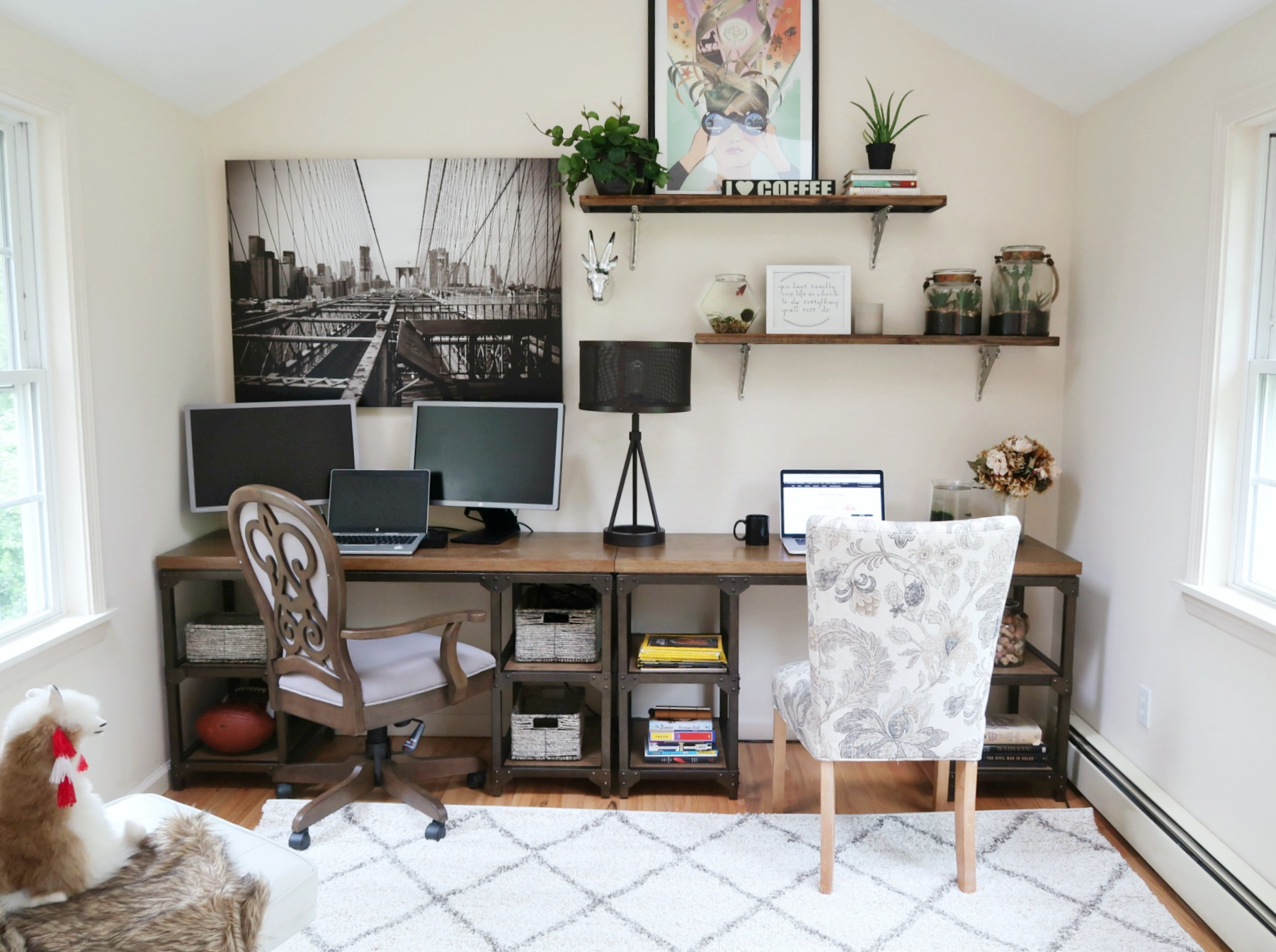 Office Tour and Makeover Reveal | DIY Office makeover