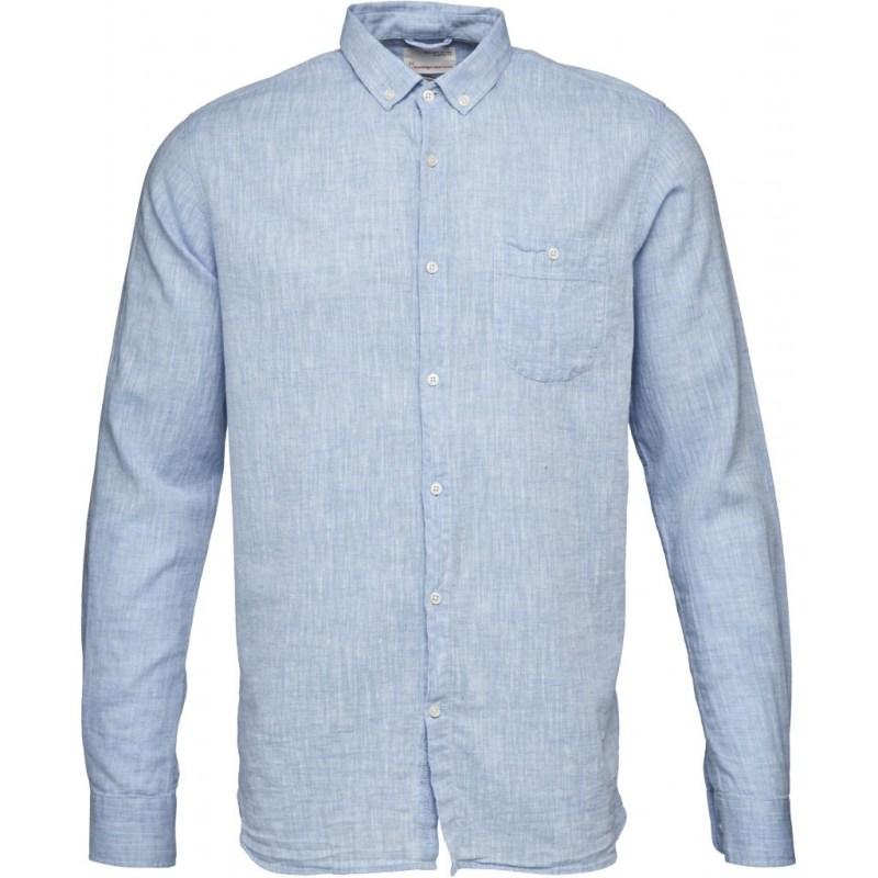 CottonLinen Shirt- GOTS Placid Blue