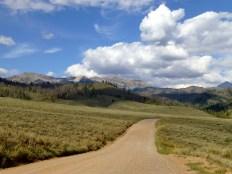 The road to Granite Hot Springs