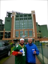 ::the Leavitt boys at Lambeau Field::