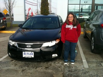 Jennifer and her 2012 Kia Forte EDITED