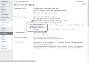 Discussion Settings