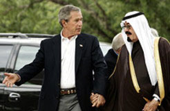 Bush and Abdullah Saud