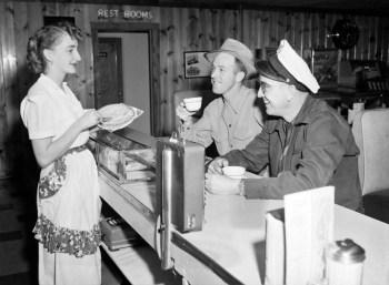 Waitress Serving Pie at Bill's