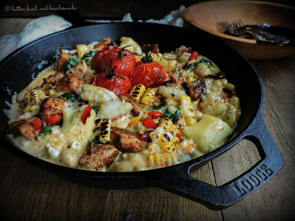 Cajun Gnocchi with Summer   Vegetables