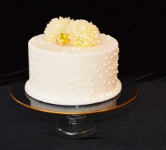"""12"""" Gold Rimmed Centerpiece Stand"""