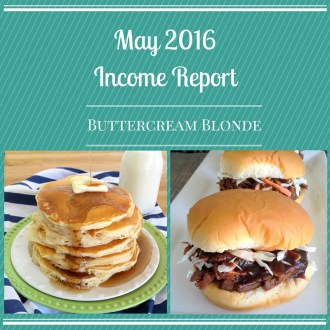 May 2016 - Income Report