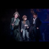 Keir Edkins-O'Brien final curtain call in the production of 'Oliver' at the Grange