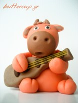 bull playing the guitar-2wtr