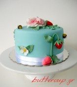 strawberries and rose cake-5wtr