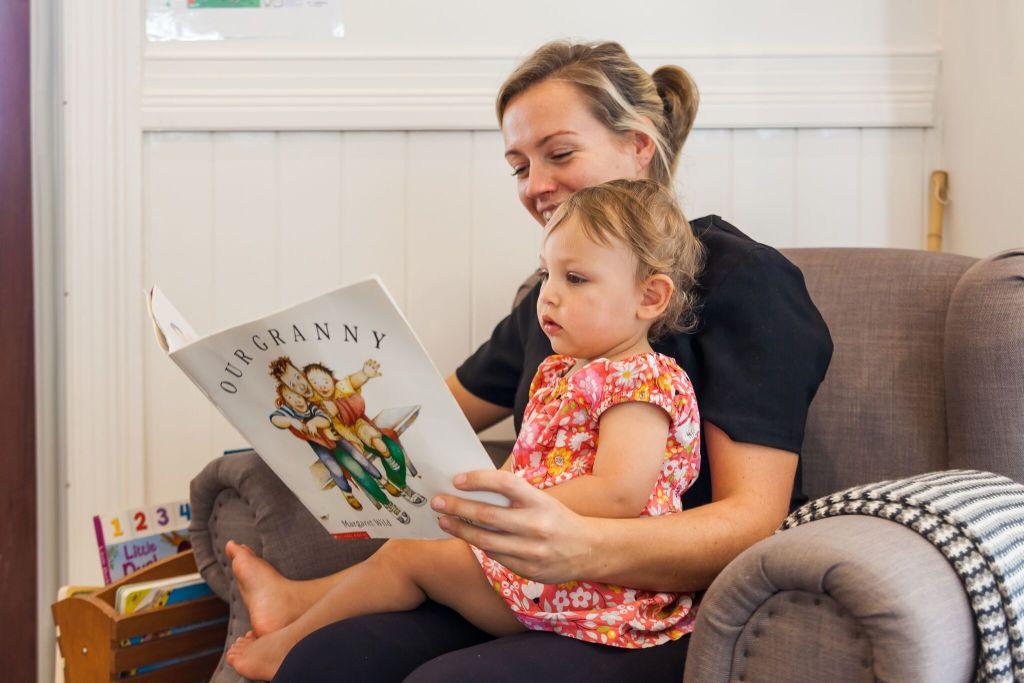 Teacher Reading story for kid