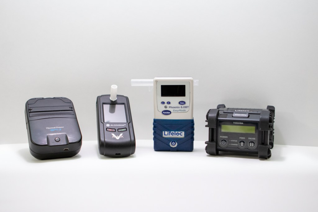 Breath Alcohol Testing devices used at Butterfield  Onsite Drug Testing.