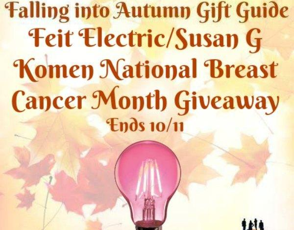 Feit Electric/Susan G Komen National Breast Cancer Month Giveaway Ends 10/11