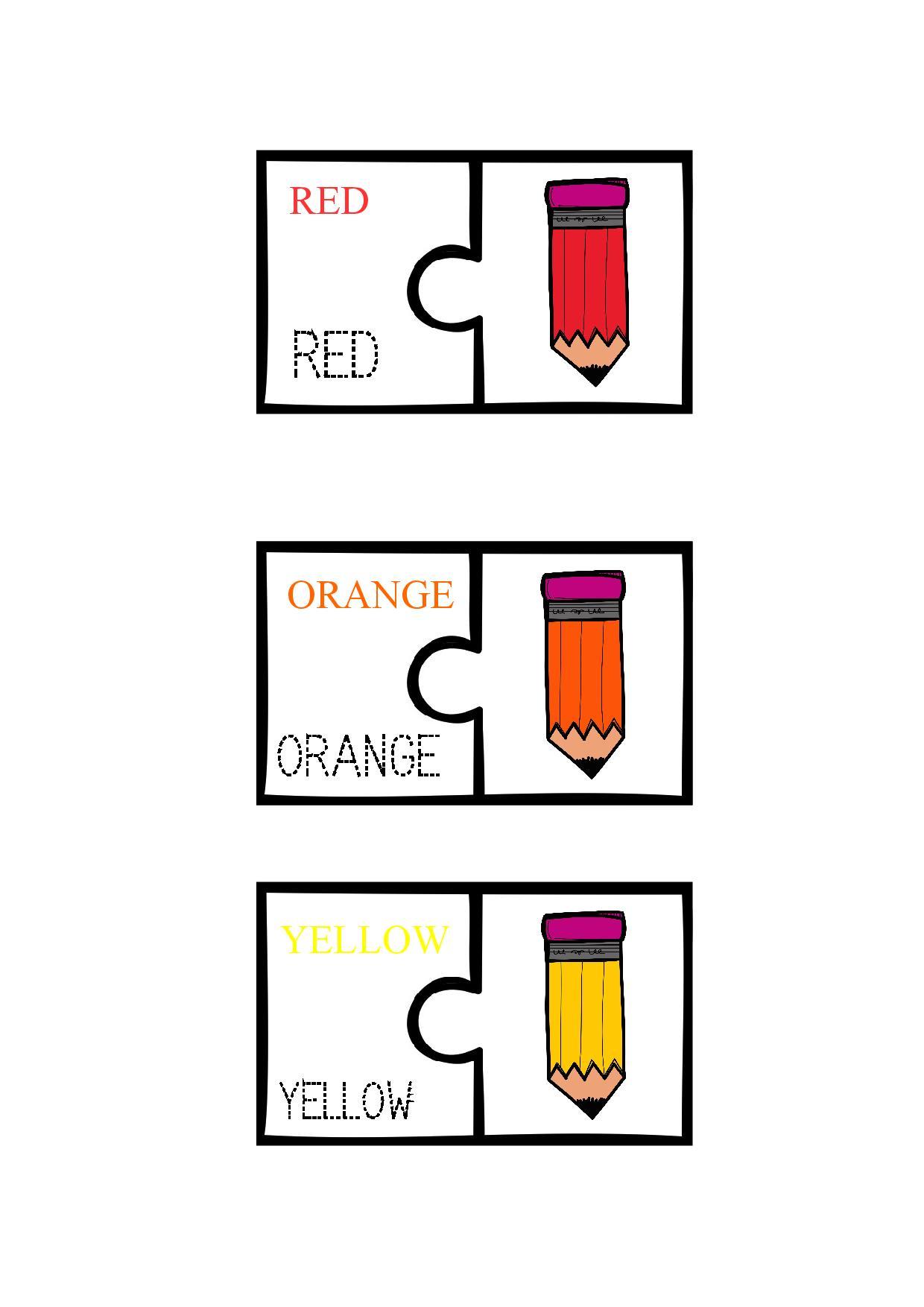 Pencil Colour Match Puzzle Butterflo Kids
