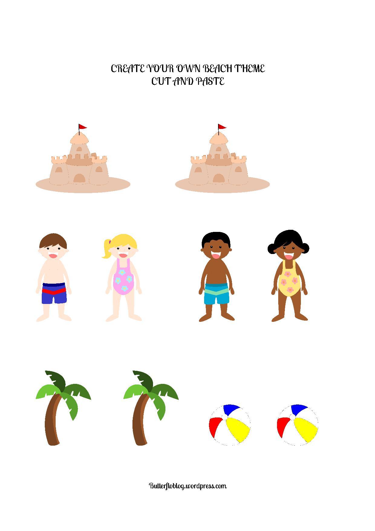Create Your Own Beach Theme Activity Butterflo Kids