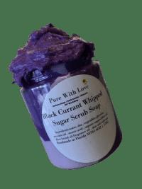 Black Currant Whipped Sugar Scrub Soap