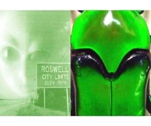 Ischiopsopha lucivorax Alien Beetle Green