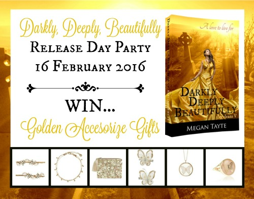 Darkly Deeply Beautifully Release Day Party poster