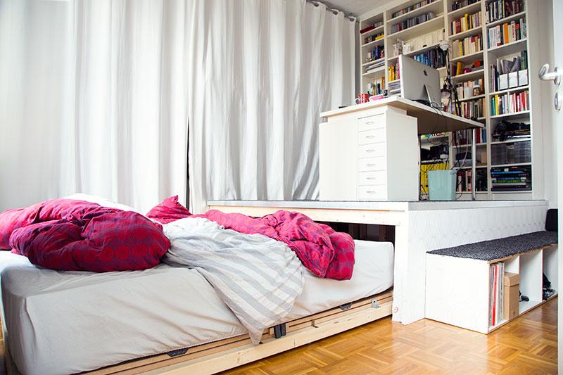 betten selber bauen podest. Black Bedroom Furniture Sets. Home Design Ideas