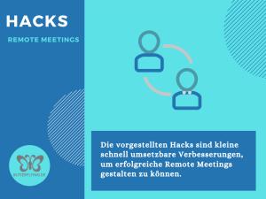 Hacks für erfolgreiche Remote Meetings