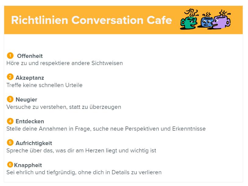 Richtlinien Conversation Cafe