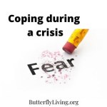Pencil erasing the word fear-coping with fear and anxiety during a crisis