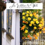 Yellow flowers in a basket-wait on God's timing