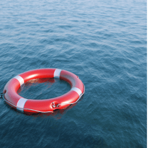 Life Preserver in Water-Already Rescued