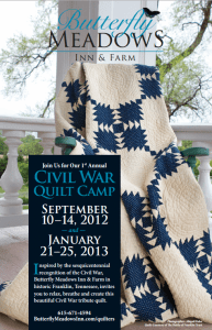 Civil War Quilt Camp