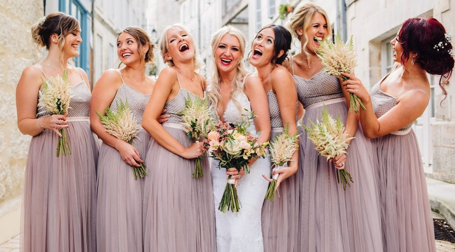 Leah and her Bridesmaids in France