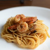 Garlic, Shrimp and Mushroom Pasta