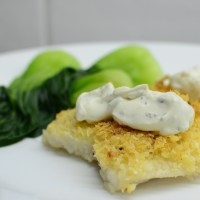 Parmesan-crusted Fish Fillet with Creamy Dill Sauce