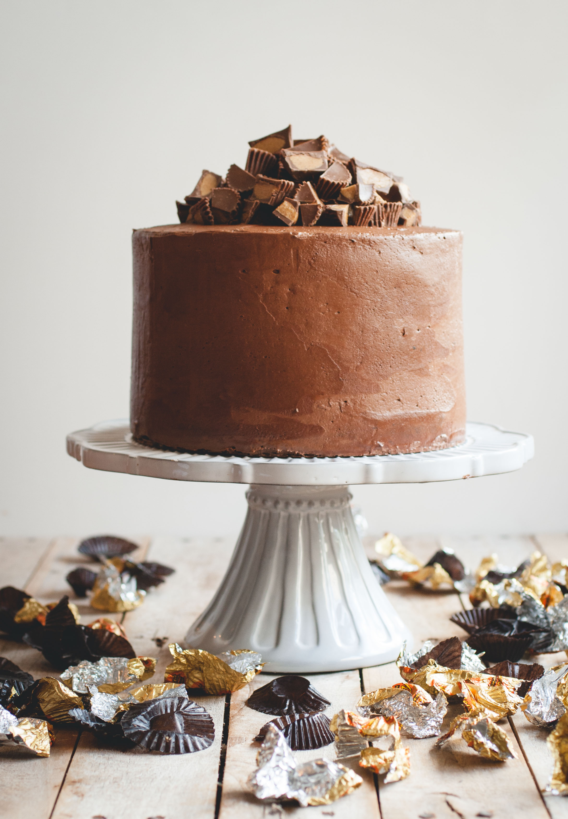 Chocolate Peanut Butter Cup Cake   Butterlust Chocolate Peanut Butter Cup Cake    butterlustblog com