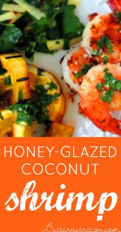 Honey-Glazed Coconut Shrimp | Butter Nutrition