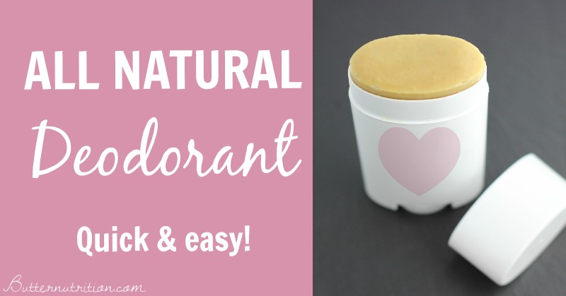 All Natural Homemade Deodorant | Butternutrition.com