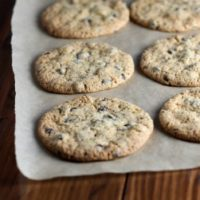 The Best Crispy Gluten Free Chocolate Chip Cookies