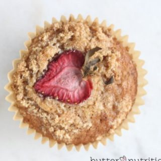 Gluten Free Strawberry-Rhubarb Muffins