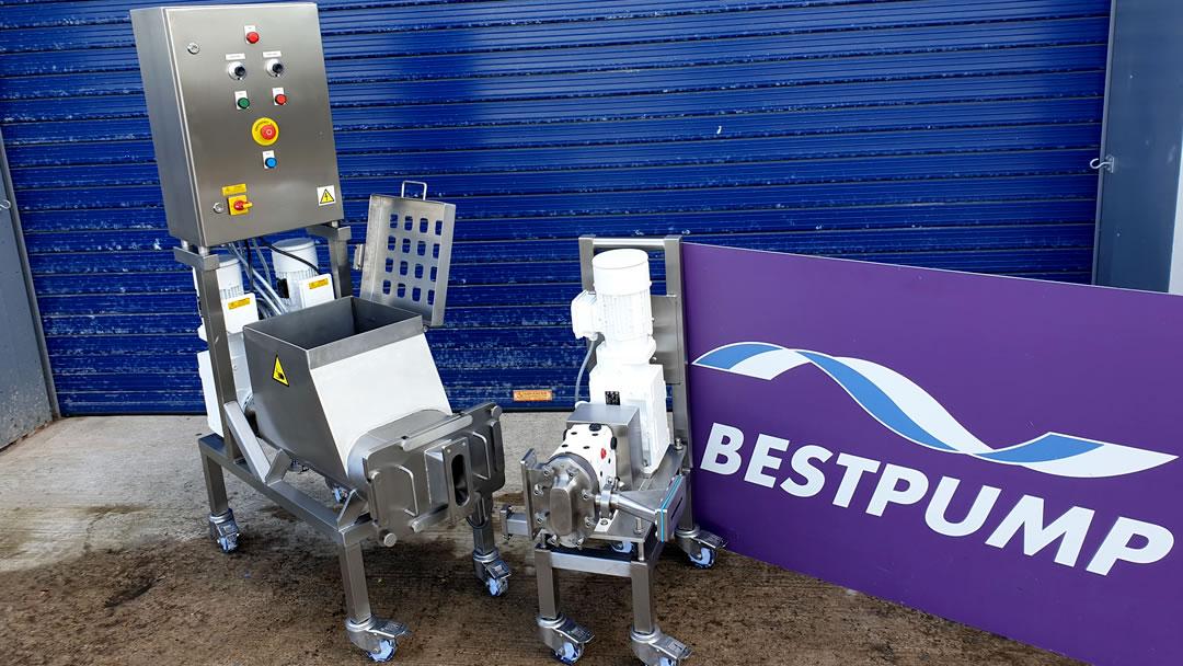 Screw feeder and pump system no conveyor