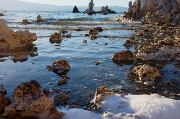 rocks and foam