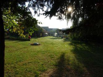 Garten am Morgen.