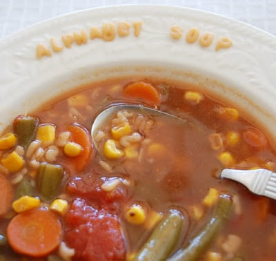 FOOD STORAGE RECIPE: ALPHABET SOUP