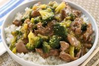 Beef and Broccoli recipe with sliced beef in a flavorful sauce with garlic, ginger & fresh broccoli.Simple to make & tastes like it's from a restaurant!