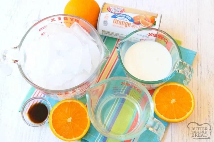 ingredients for orange julius