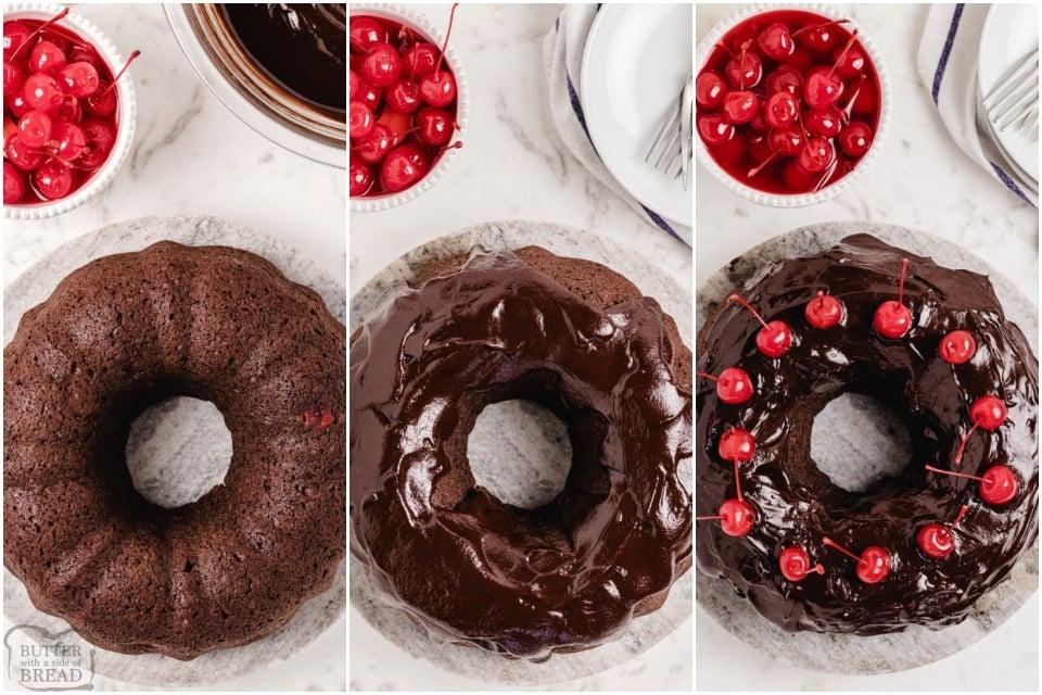 how to make Best Chocolate Cherry Cake recipe